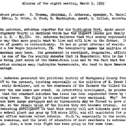 Minutes, 1959-03-05. The St...