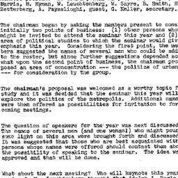 Minutes, 1958-11-06. The St...