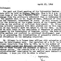 Correspondence, 1962-04-23....