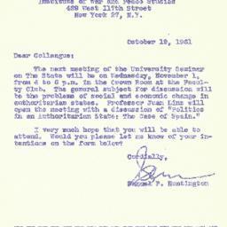 Correspondence, 1961-10-19....
