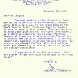 Correspondence, 1961-12-28....