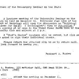 Announcements, 1967-12-01. ...