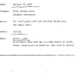 Announcements, 1976-01-27. ...