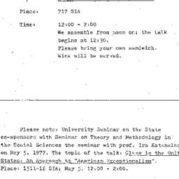 Announcements, 1976-04-21. ...