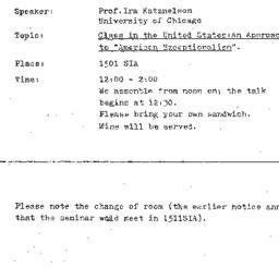 Announcements, 1976-05-05. ...