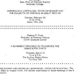 Announcements, 1983-02-22. ...