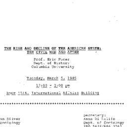 Announcements, 1985-03-05. ...