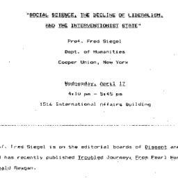 Announcements, 1985-04-17. ...