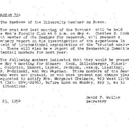 Minutes, 1954-04-20. The Pr...