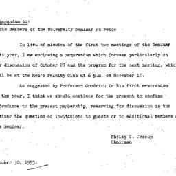 Minutes, 1953-10-27. The Pr...
