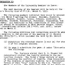 Minutes, 1955-02-08. The Pr...