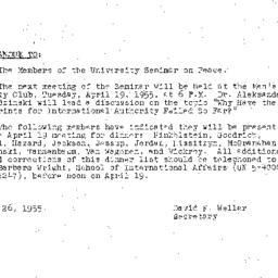 Minutes, 1955-03-22. The Pr...