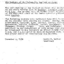 Minutes, 1956-11-27. The Pr...