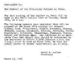 Minutes, 1957-03-12. The Pr...