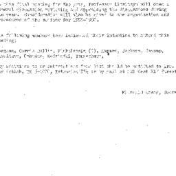 Announcements, 1959-04-21. ...