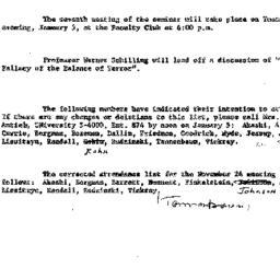 Announcements, 1959-12-08. ...