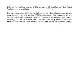 Announcements, 1960-01-19. ...