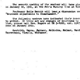 Announcements, 1960-12-22. ...
