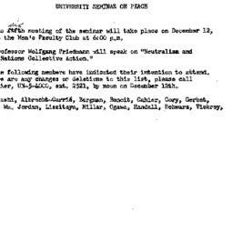 Announcements, 1961-11-28. ...