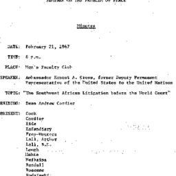 Minutes, 1967-02-21. The Pr...