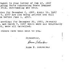 Correspondence, 1967-05-15....