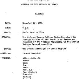 Minutes, 1966-11-22. The Pr...