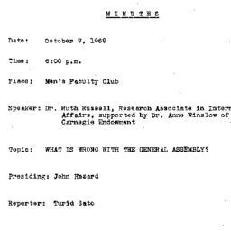 Minutes, 1969-10-07. The Pr...