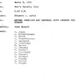 Minutes, 1971-03-09. The Pr...