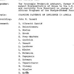 Minutes, 1973-11-13. The Pr...