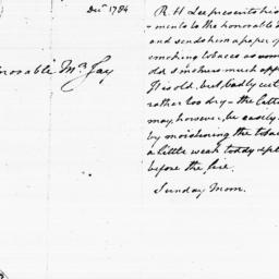 Document, 1784 December n.d.