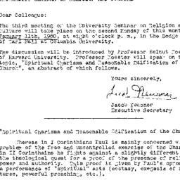 Announcements, 1960-01-01. ...