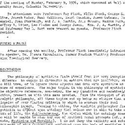 Minutes, 1976-02-09. Studie...