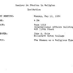 Announcements, 1980-05-12. ...