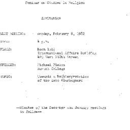 Announcements, 1982-02-08. ...