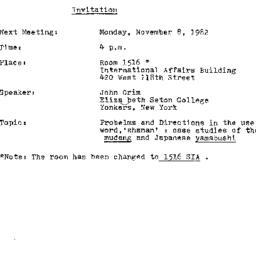 Announcements, 1982-11-08. ...
