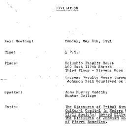 Announcements, 1991-05-06. ...