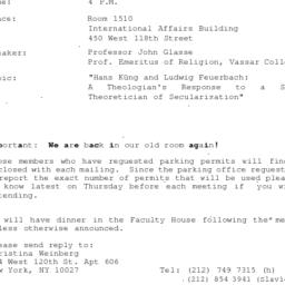 Announcements, 1993-04-05. ...