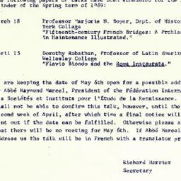 Correspondence, The Renaiss...