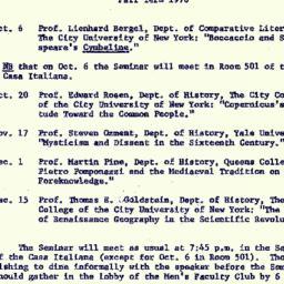 Announcements, 1970-11-02. ...