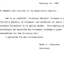 Correspondence, 1988-02-15....