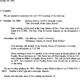 Correspondence, 1993-09-20....