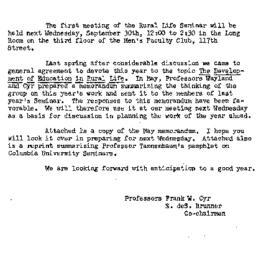 Announcements, 1953-09-24. ...
