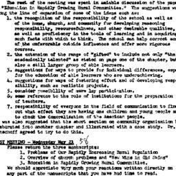 Minutes, 1958-05-14. Rural ...