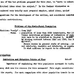 Minutes, 1957-10-09. Rural ...