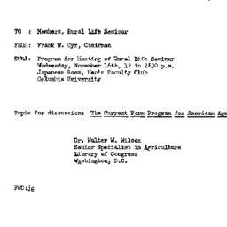 Announcements, 1960-11-11. ...