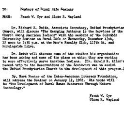 Announcements, 1961-12-08. ...