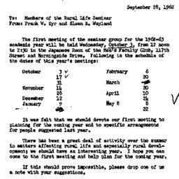 Announcements, 1962-09-28. ...