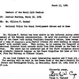 Announcements, 1964-03-12. ...
