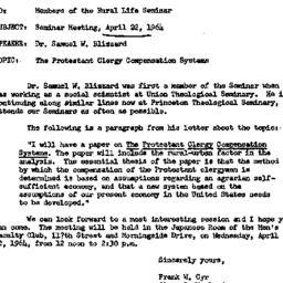 Announcements, 1964-04-17. ...