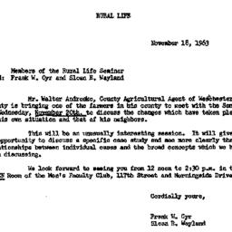 Announcements, 1963-11-18. ...